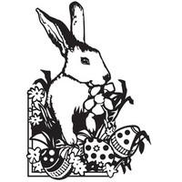 Darice A2 Embossing Folder - Easter Bunny