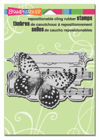 Stampendous Cling Stamp - Butterfly Tune