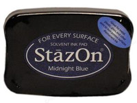 StazOn Permanent Ink Pad - Midnight Blue