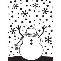 Darice A2 Embossing Folder - Snowman