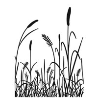 Darice A2 Embossing Folder - Grass Silhouette