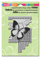 Stampendous Cling Stamp - Butterfly Pattern