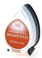 Memento Dew Drop Ink Pad - Potter's Clay
