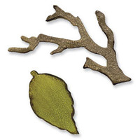 Sizzix Movers & Shapers Magnetic Die Set 2PK - Mini Branch & Leaf Set by Tim Holtz