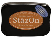 StazOn Permanent Ink Pad - Rusty Brown