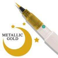 Wink of Luna Brush Tip Marker by Zig - Gold