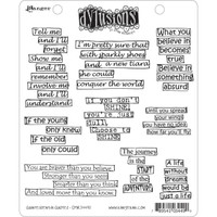 Dyan Reaveley's Dylusions Cling Stamp Collections - Quintessential Quotes