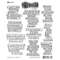 Dyan Reaveley's Dylusions Cling Stamp Collections - Say It How It Is