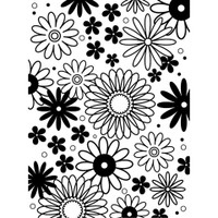 Darice A2 Embossing Folder - Flower Frenzy Background
