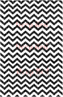 "Deep Red Cling Stamps - Chevron Weave 5"" x 7"""