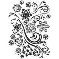 Darice A2 Embossing Folder - Snowflake Swirl