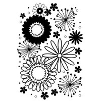 Darice 5 x 7 Embossing Folder - Flower Frenzy