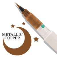 Wink of Luna Brush Tip Marker by Zig - Copper
