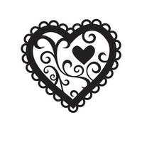 Darice A2 Embossing Folder - Valentine Hearts