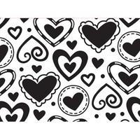 Darice A2 Embossing Folder - Layered Hearts