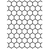 Darice A2 Embossing Folder - Honeycomb