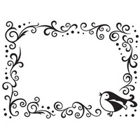 Darice A2 Embossing Folder - Bird Scroll