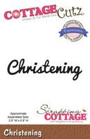CottageCutz Expressions Die - Christening