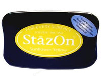 StazOn Permanent Ink Pad - Sunflower Yellow
