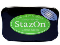 StazOn Permanent Ink Pad - Cactus Green