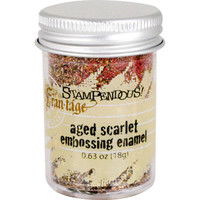 Stampendous Shabby Embossing Enamels - Aged Scarlet