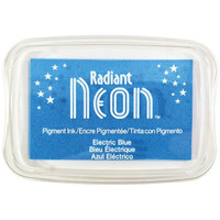 Radiant Neon Ink Pad - Electric Blue