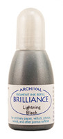 Brilliance Re-Inker - Metallic Lightning Black