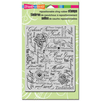 Stampendous Cling Stamp - Wine Labels