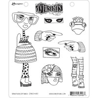 Dyan Reaveley's Dylusions Cling Stamp Collections - Pondering Petunia