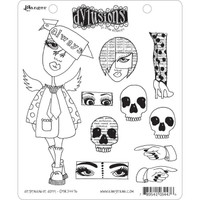 Dyan Reaveley's Dylusions Cling Stamp Collections - Dependable Dotty