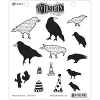 Dyan Reaveley's Dylusions Cling Stamp Collections - Birds On A Wire