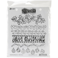 Dyan Reaveley's Dylusions Cling Stamp Collections - Christmas Borders