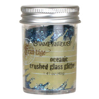 Stampendous Crushed Glass Glitter - Oceanic
