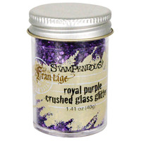 Stampendous Crushed Glass Glitter - Royal Purple
