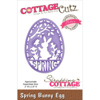 CottageCutz Elites Die - Spring Bunny Egg