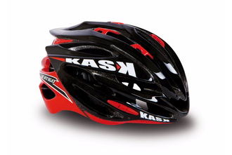 Kask Vertigo 2.0 Road Helmet - Black and Red