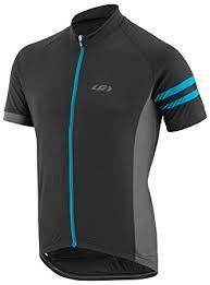 Louis Garneau Men's Evan's Classic Cycling Jersey Black/Gray/Blue