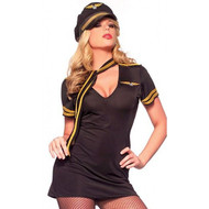STEWARDESS PILOT captain  womens sexy adult costume M L