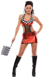 RACE CAR nascar dress sexy womens halloween costume M L