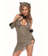 LEOPARD CHEETAH CAT sexy adult womens costume One size fits most