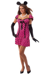 MINNIE MOUSE polka dot sexy women adult costume M L