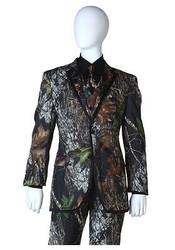 MOSSY OAK TUX COAT camou jacket alpine wedding tuxedo duck dynasty formal LARGE