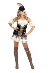 ROBIN HOOD elf adult womens sexy halloween costume S