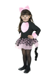 MISS KITTY pink cat girls toddler pink tutu dress childs halloween costume XS