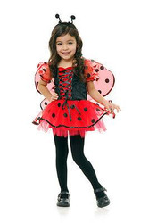 black & red LOVE BUG kids girls toddler ladybird beetle halloween costume 2T-4T