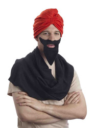 Red Turban Adult Costume Accessory