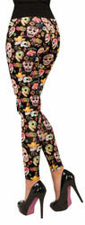 Day of the Dead Leggings Dios de Los Muertos by Forum Novelties
