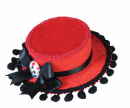 Day of the Dead Mini Red Guacho Hat