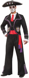 Day of the Dead Mariachi Macabre Costume Adult Standard