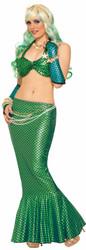 green Long Mermaid Tail Skirt Adult Costume